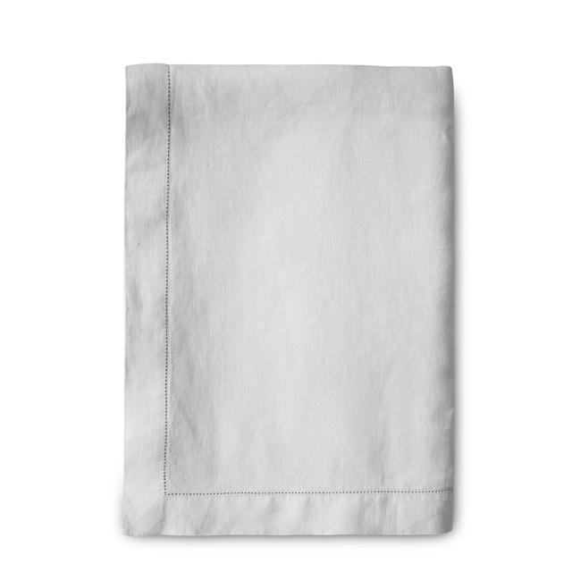 The Linen Works Dove Grey Hemstitch Tablecloth 160X275cm