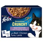 Felix Sensations Crunchies Cat Food Mixed