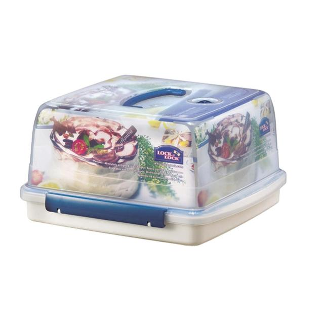 Lock lock air tight portable plastic cake box 12 6l for Decor 6l container