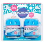 Ecozone Forever Flush Twin Pack up to 2000 Flushes Toilet Block