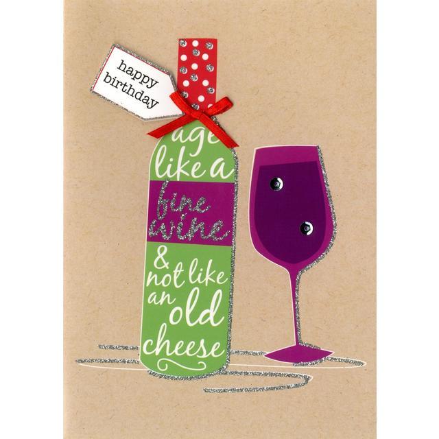 hand finished fine wine birthday card from ocado