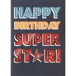 Hand Finished Super Star Birthday Card