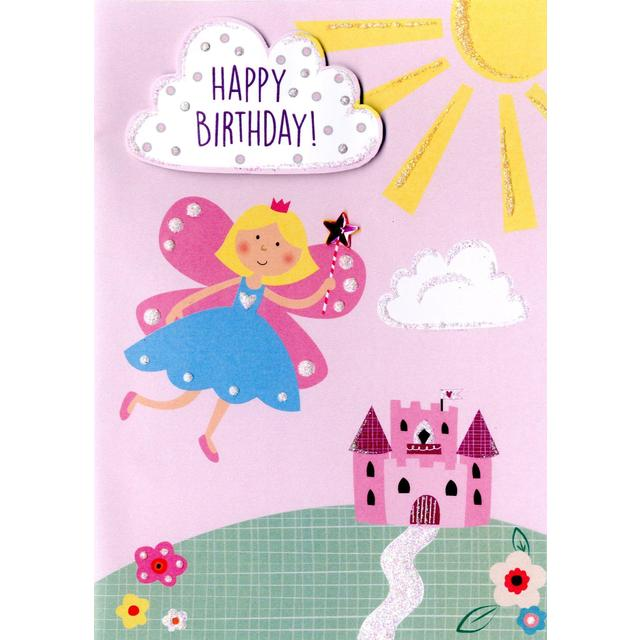 Hand finished fairy birthday card from ocado hand finished fairy birthday card bookmarktalkfo Image collections
