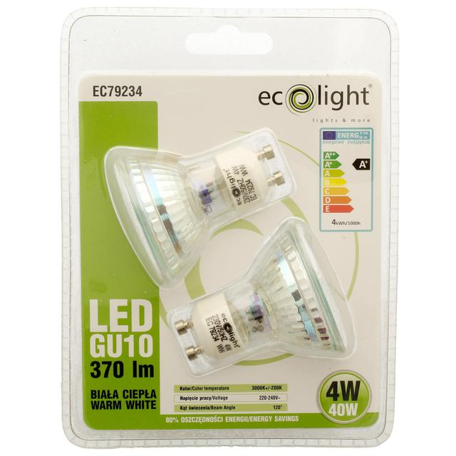 Ecolight LED Spotlight Bulbs GU10 4W