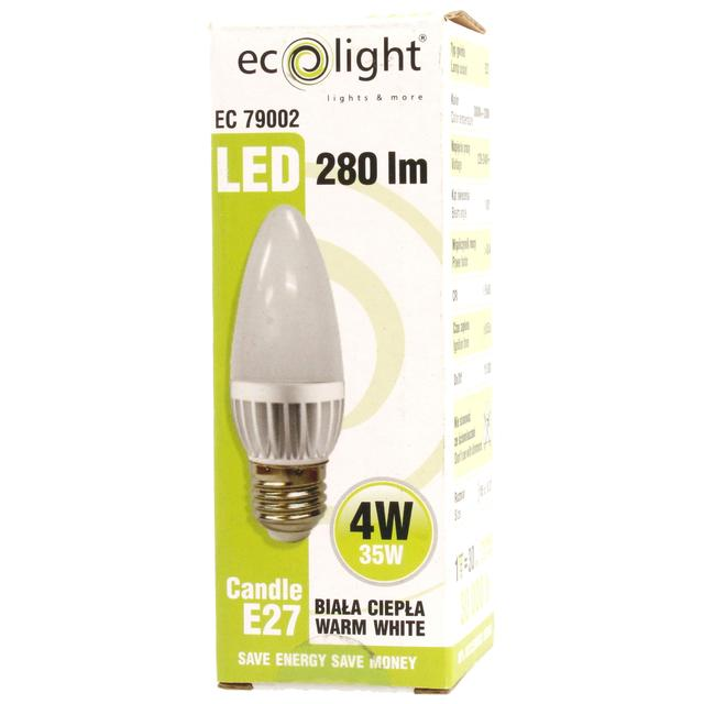 LED Candle Light Bulb E27 ES 4W
