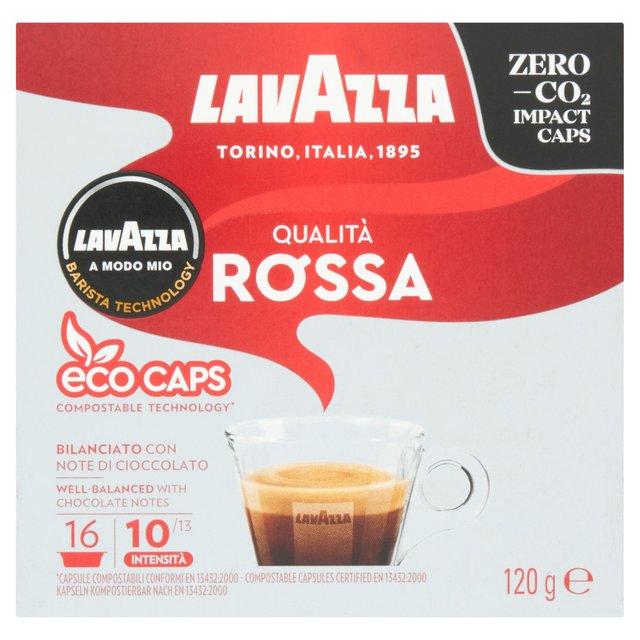 Lavazza A Modo Mio Qualita Rossa Capsules 16 Per Pack From