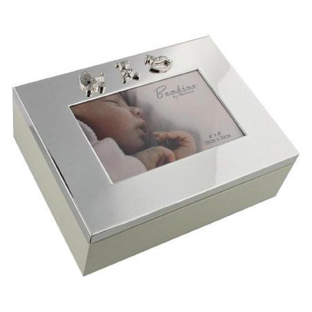 Bambino Silver Plated Baby Keepsake Box with Icons  sc 1 st  Ocado : keepsake box baby - Aboutintivar.Com