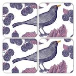 Thornback & Peel Coaster Set of 4 - Blackbird & Bramble
