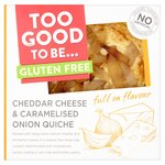 Too Good To Be Cheddar Cheese & Caramelized Onion Quiche