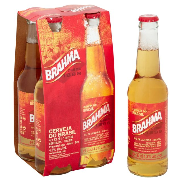 brahma brazilian beer bottles 4 x 330ml from ocado. Black Bedroom Furniture Sets. Home Design Ideas