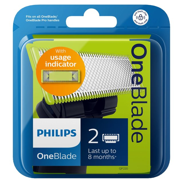 Philips OneBlade Replacement Blades QP220, 2 pack from Ocado