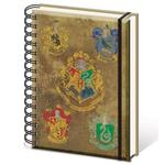 Harry Potter (Hogwarts Crest & Four Houses) A5 Notebooks