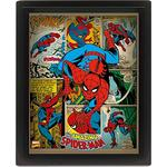 Marvel Retro Spider Man 3D Framed Poster