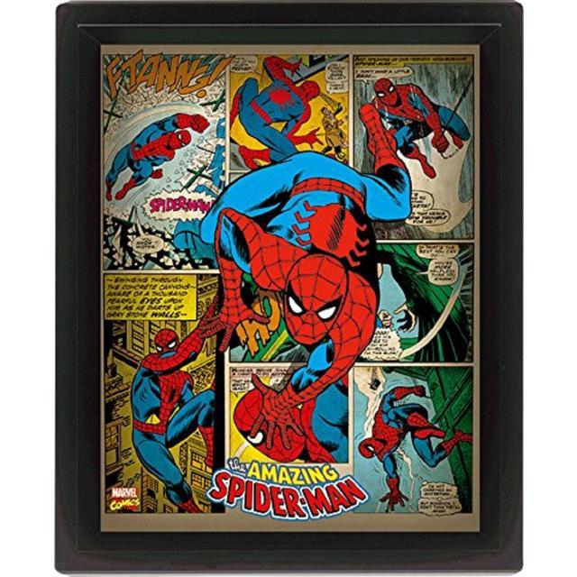 Marvel Retro Spider Man 3D Framed Poster from Ocado