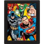 Superheroes 3D Framed Poster