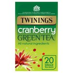Twinings Cranberry Green Tea Bags