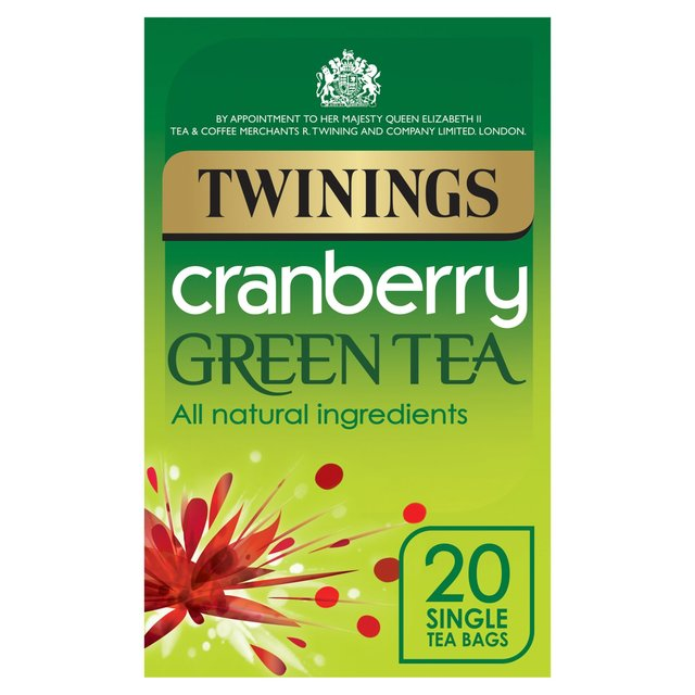 Twinings Cranberry Green Tea 20 per pack from Ocado