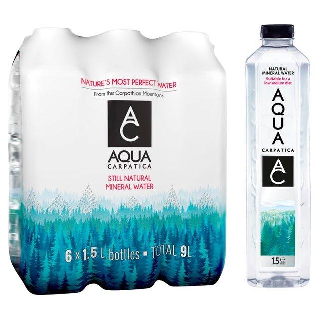 bd98ac12d9 AQUA Carpatica Still Natural Mineral Water Low Sodium & Nitrates 6 x 1.5L