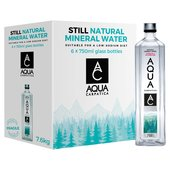 AQUA Carpatica Still Natural Mineral Water Sodium Free Glass Bottle