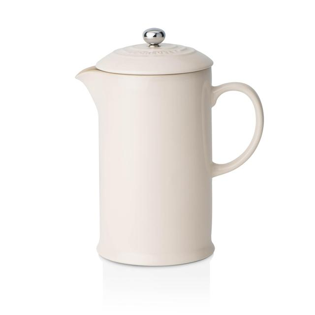Le Creuset Stoneware Cafetiere with Metal Press 0.75L, Almond