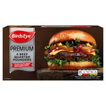Birds Eye 4 Premium Beef Quarter Pounder Burgers Frozen