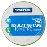 10 metre electrical coloured pvc insulating tape 5 pack