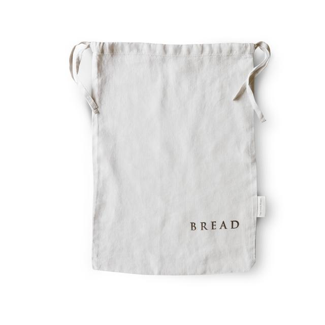 The Linen Works Bread Bag, Dove Grey