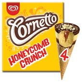 Cornetto Honeycomb Crunch Ice Cream Cone