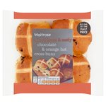 Waitrose Mini Chocolate Orange Hot Cross Buns