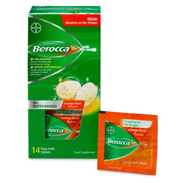 Vitamins For Energy >> Berocca Orange Energy Vitamin Fizzy Melt Tablets