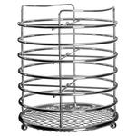 Premier Housewares Chrome Cutlery Caddy