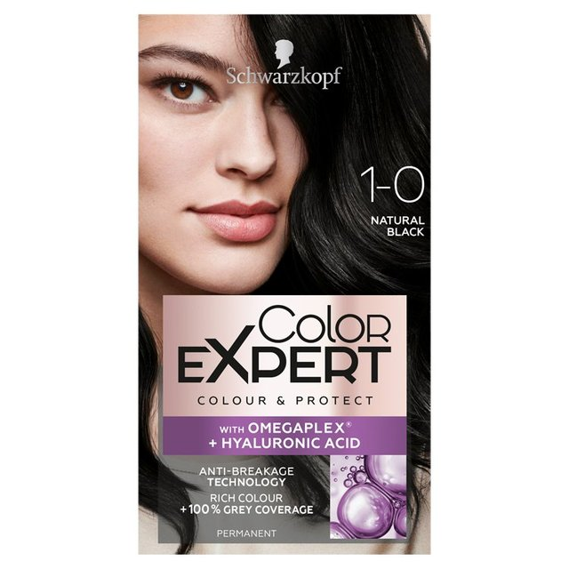 cf9d91913d6a7 Schwarzkopf Color Expert 1-0 Natural Black Hair Dye from Ocado
