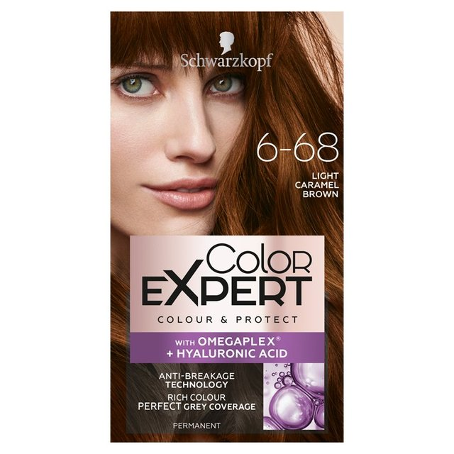 schwarzkopf color expert 565 light caramel brown hair dye