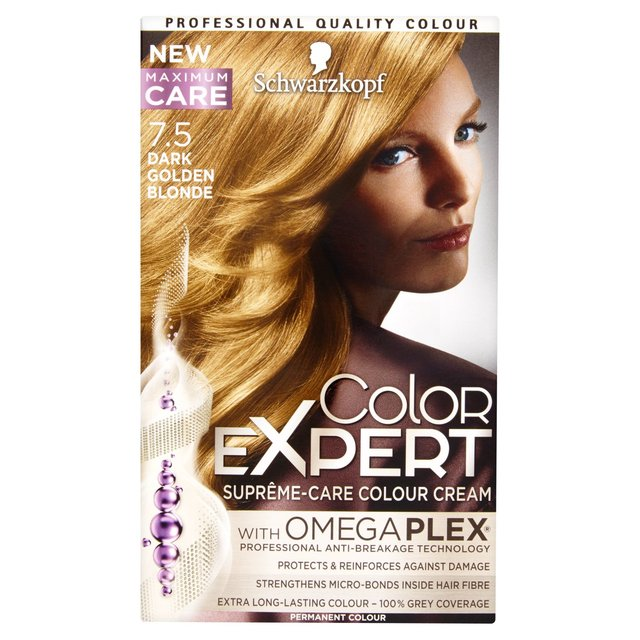 Schwarzkopf Color Expert 7 5 Dark Golden Blonde Hair Dye From Ocado