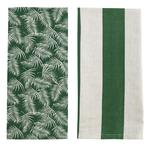 Raine & Humble Palm Tea Towel, Amazon Green