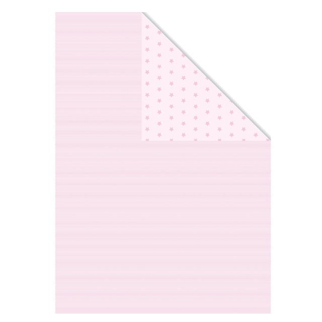 Pink Stripe & Stars Gift Wrap Sheets
