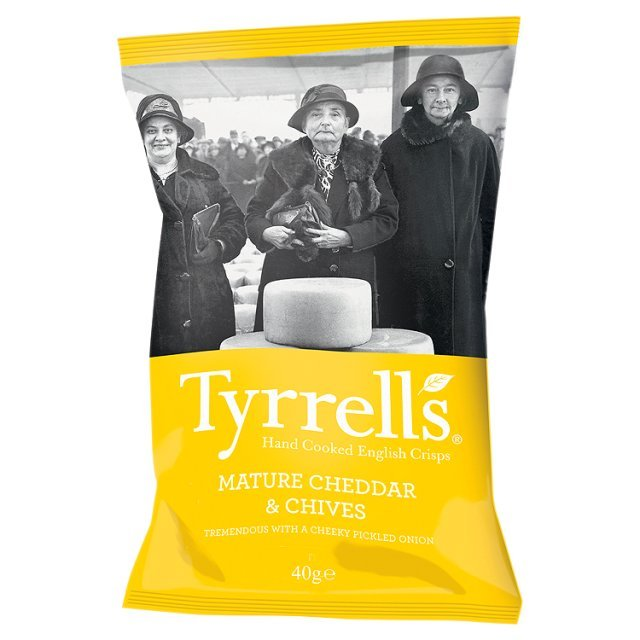 Tyrrell's Cheddar and Chive Potato Chips