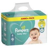 Pampers Baby Dry Nappies Size 4 Jumbo Pack