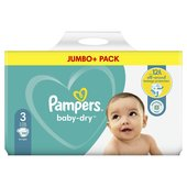 Pampers Baby Dry Nappies Size 3 Jumbo Pack