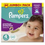 Active Fit Nappies Size 4 Jumbo Pack 64 per pack