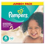 Pampers Active Fit Nappies Size 6 Jumbo Pack