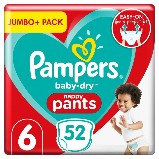 Pampers Baby Dry Pants Size 6 Jumbo Pack 58 Per Pack From