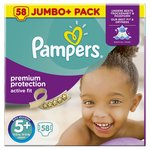 Pampers Active Fit Nappies Size 5+ Jumbo Pack