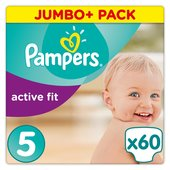 Pampers Active Fit Nappies Size 5 Jumbo Pack