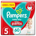 Pampers Baby-Dry Pants Size 5, 60 Nappy Pants