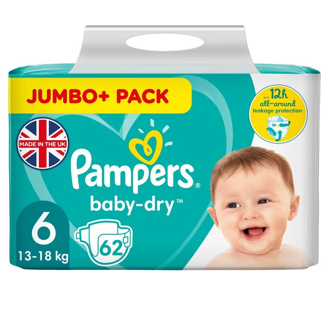 Baby Changing & Nappies Pampers Nappies Size 6 Pack Of 62