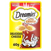 Dreamies Extra Crunch Cat Treats with Cheese
