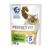 Perfect Fit 1+ Sensitive Cat Complete Dry Rich in Turkey