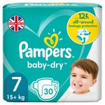 Pampers Baby-Dry Size 7, 30 Nappies, 1Essential Pack