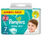 Pampers Baby Dry Nappies Size 7 Jumbo Pack